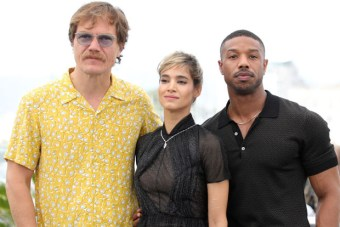 Michael Shannon, Sofia Boutella and Michael B. Jordan attend the photocall for 'Farenheit 451' during the 71st annual Cannes Film Festival
