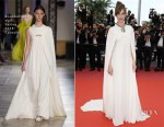 Louise Bourgoin In Giambattista Valli Couture - 'Yomeddine' Cannes Film Festival Premiere
