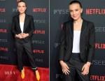 Millie Bobby Brown In Thom Browne - 'Stranger Things 2' Panel At Netflix FYSEE