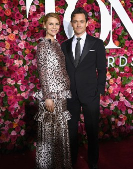Claire Danes and Hugh Dancy attend the 72nd Annual Tony Awards