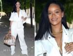 Rihanna In Louis Vuitton - Louis Vuitton Spring 2019 Menswear Show