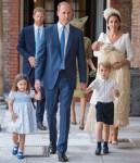 Catherine, Duchess of Cambridge In Alexander McQueen - HRH Prince Louis Of Cambridge Christening