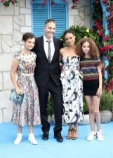 Ripley Parker, Ol Parker, Nico Parker and Thandie Newton attend the 'Mamma Mia! Here We Go Again' World Premiere
