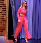 Lily James In Emilia Wickstead - The Tonight Show Starring Jimmy Fallon