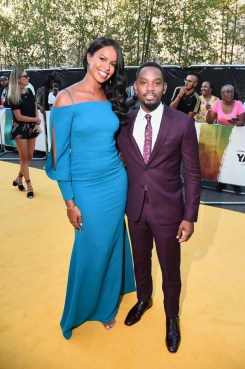 Sabrina Dhowre and Aml Ameen attend the Premiere of 'Yardie'