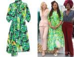 Ava DuVernay's Prada Pussy-Bow Floral Dress