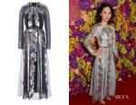 Jing Lusi's Temperley London Insignia Cut-Out Dress