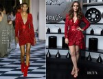 Lily Collins In Zuhair Murad Haute Couture - Cartier Precious Garage Party