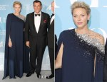 Princess Charlene of Monaco In Oscar de la Renta - Monte-Carlo Gala for the Global Ocean 2018