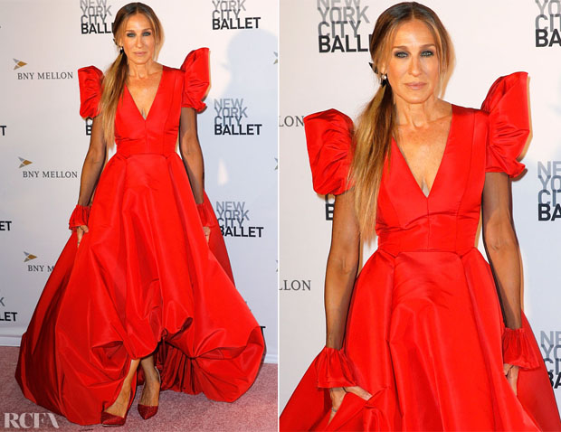 Sarah Jessica Parker In Giles Deacon Couture - 2018 New York City Ballet Fall Fashion Gala