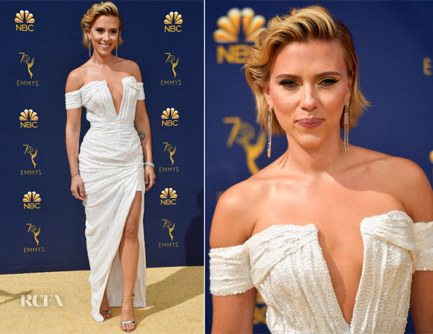 Scarlett Johansson In Balmain - 2018 Emmy Awards