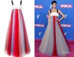 Sofia Carson's Carolina Herrera Beaded Bust Tulle Gown