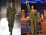 Taraji P. Henson In Alberta Ferretti - The Tonight Show Starring Jimmy Fallon