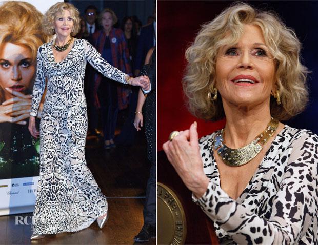Jane Fonda In Roberto Cavalli - 10th Lumiere Film Festival