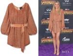 Gwyneth Paltrow's Retrofête Grace Velvet-Trimmed Sequined Dress