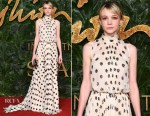 Fashion Blogger Catherine Kallon feature Carey Mulligan In Prada - The Fashion Awards 2018