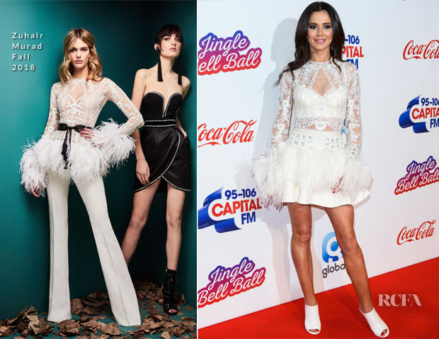 Fashion Blogger Catherine Kallon features Cheryl Cole In Zuhair Murad - Capital FM Jingle Bell Ball