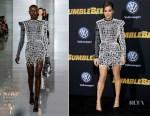 Fashion Blogger Catherine Kallon feature Hailee Steinfeld In Balmain - 'Bumblebee' LA Premiere
