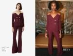 Fashion Blogger Catherine Kallon feature the KiKi Layne In SAFIYAA - 'If Beale Street Could Talk' New York Photocall