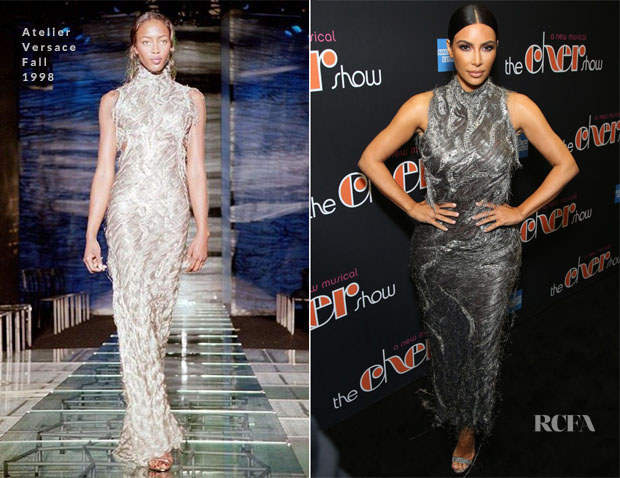 Fashion Blogger Catherine Kallon feature the Kim Kardashian In Atelier Versace - 'The Cher Show' Broadway Opening Night