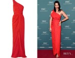 Adriana Lima's Brandon Maxwell One-Shoulder Gown