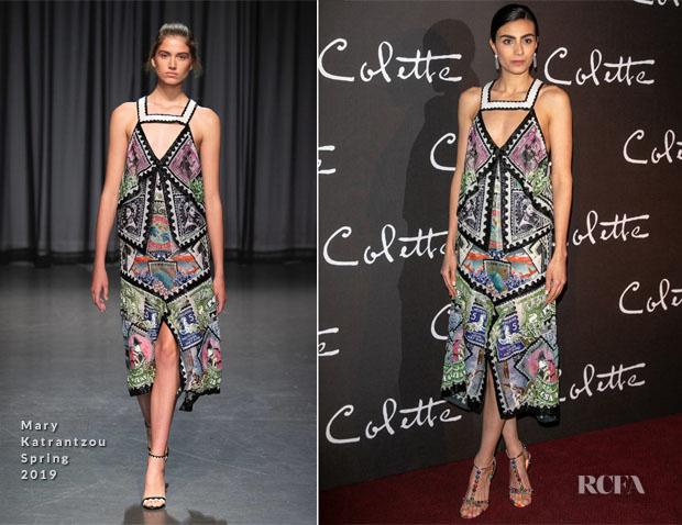 Fashion Blogger Catherine Kallon features Aiysha Hart In Mary Katrantzou - 'Colette' Paris Premiere