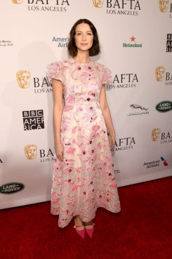 Fashion Blogger Catherine Kallon features Caitriona Balfe In Delpozo - BAFTA Los Angeles Tea Party