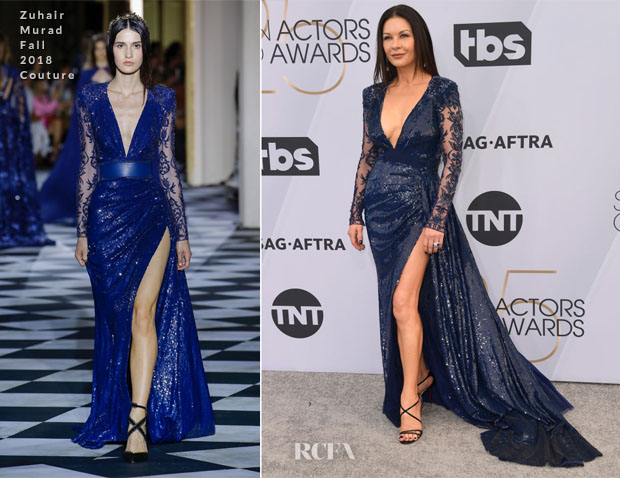 Fashion Blogger Catherine Kallon features Catherine Zeta-Jones In Zuhair Murad Couture - 2019 SAG Awards