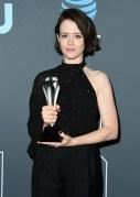 Fashion Blogger Catherine Kallon features Claire Foy In Celine - 2019 Critics' Choice Awards