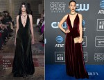 Fashion Blogger Catherine Kallon features Emmy Rossum In Ralph Lauren - 2019 Critics' Choice Awards