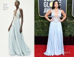 Fashion Blogger Catherine Kallon feature Gina Rodriguez In Reem Acra - 2019 Golden Globe Awards