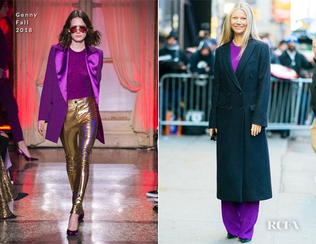 Fashion Blogger Catherine Kallon features Gwyneth Paltrow In Genny  -  Good Morning America