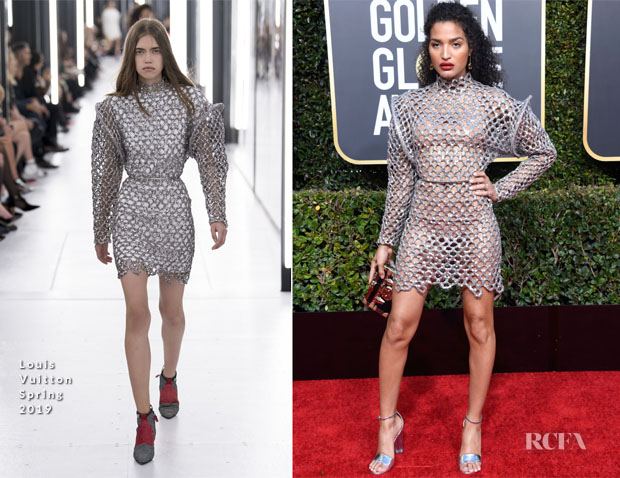 Fashion Blogger Catherine Kallon features Indya Moore In Louis Vuitton - 2019 Golden Globe Awards