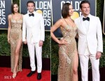 Fashion Blogger Catherine Kallon features Irina Shayk In Atelier Versace & Bradley Cooper In Gucci - 2019 Golden Globe Awards