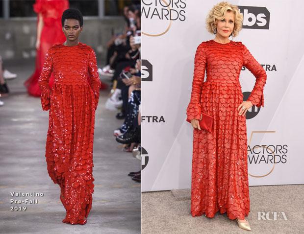 Fashion Blogger Catherine Kallon features Aja Jane Fonda In Valentino - 2019 SAG Awards