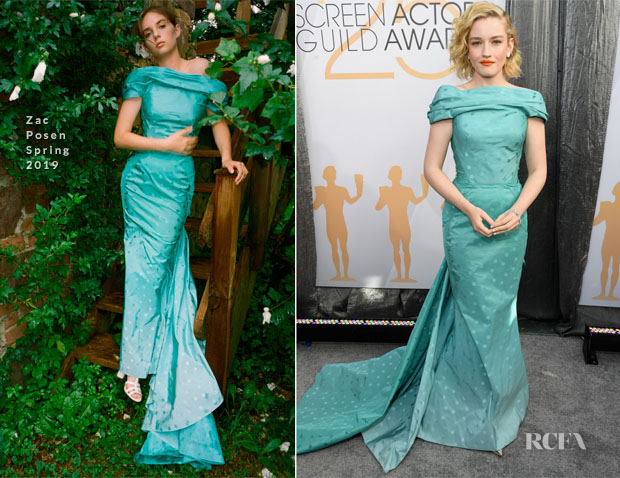 Fashion Blogger Catherine Kallon features Julia Garner In Zac Posen - 2019 SAG Awards