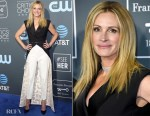 Fashion Blogger Catherine Kallon features Julia Roberts In Louis Vuitton - 2019 Critics' Choice Awards