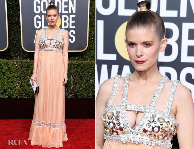 Fashion Blogger Catherine Kallon features Kate Mara In Miu Miu - 2019 Golden Globe Awards
