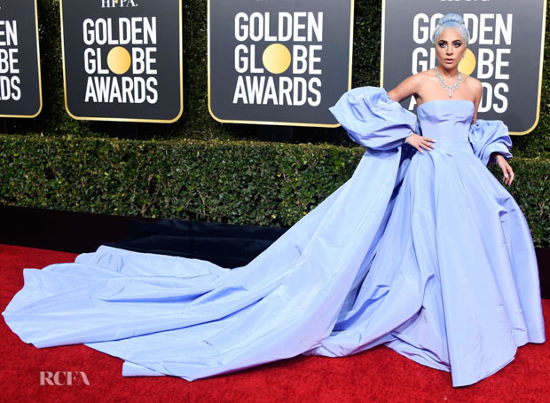 Fashion Blogger Catherine Kallon features Lady Gaga In Valentino Haute Couture - 2019 Golden Globe Awards