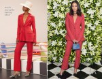 Fashion Blogger Catherine Kallon features Laura Harrier In Rosie Assoulin - WSJ. Magazine Talents and Legends Dinner