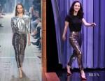Fashion Blogger Catherine Kallon features Rachel Brosnahan In Isabel Marant - The Tonight Show Starring Jimmy Fallon