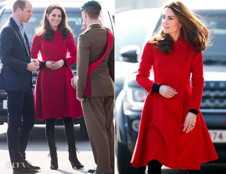 Catherine, Duchess of Cambridge In CH Carolina Herrera -  Northern Ireland Visit