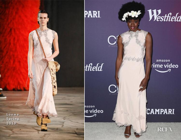 Fashion Blogger Catherine Kallon features Danai Gurira In Loewe - 2019 Costume Designers Guild Awards