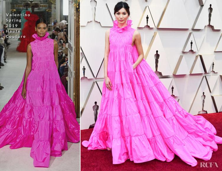Fashion Blogger Catherine Kallon features Gemma Chan In Valentino Haute Couture - 2019 Oscars