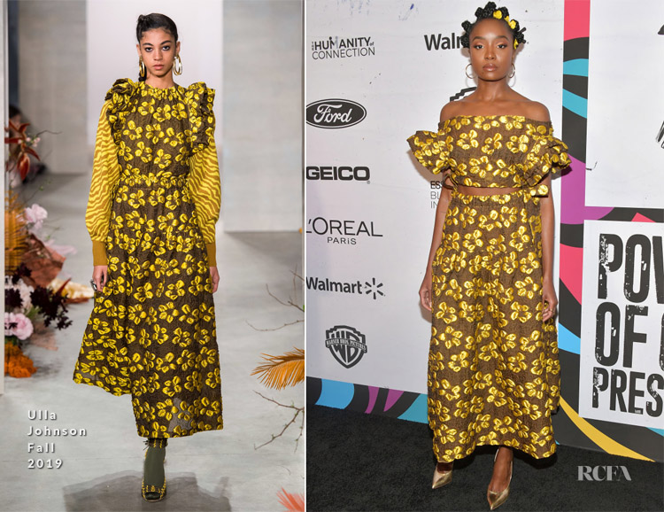 Fashion Blogger Catherine Kallon features KiKi Layne In Ulla Johnson - 2019 Essence Black Women In Hollywood Awards