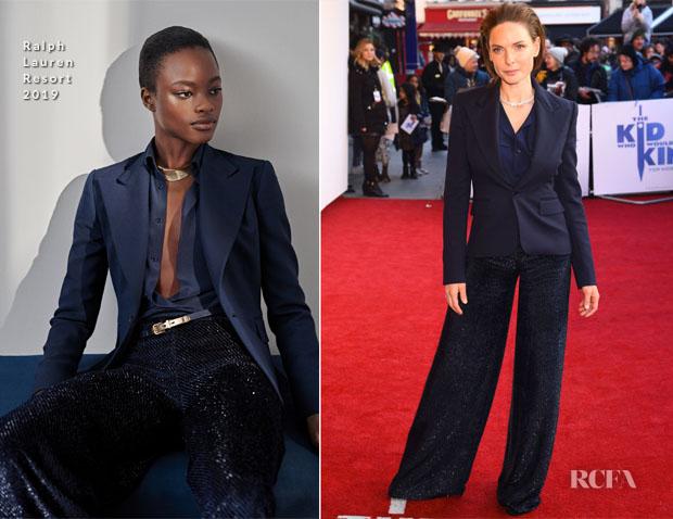 Fashion Blogger Catherine Kallon features Rebecca Ferguson In Ralph Lauren & Safiyaa - 'The Kid Who Would Be King' Gala Screening & Photocall