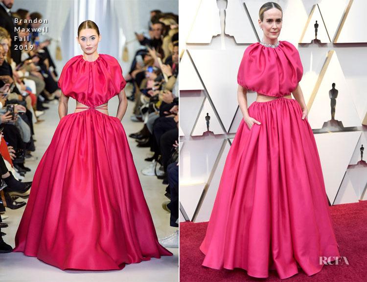 Sarah Paulson In Brandon Maxwell - 2019 Oscars