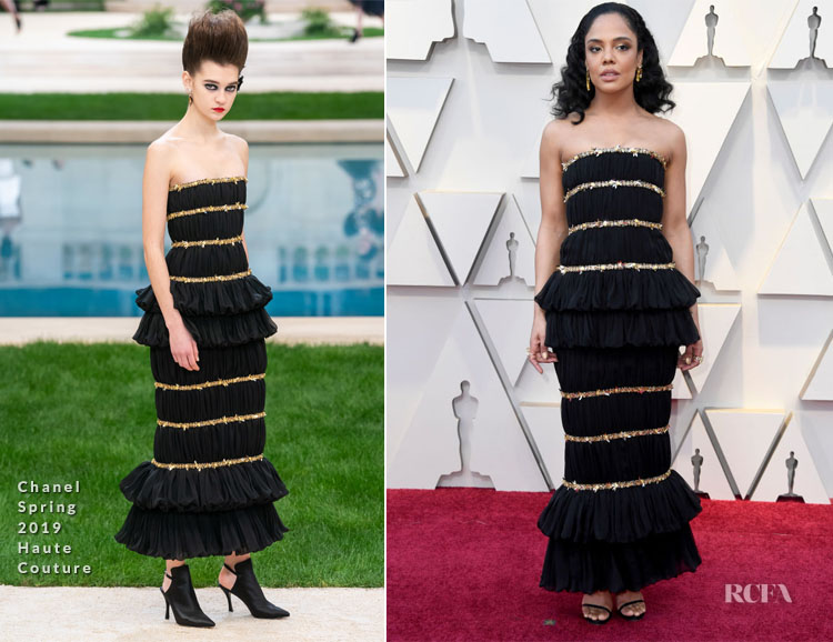 Tessa Thompson In Chanel Haute Couture - 2019 Oscars
