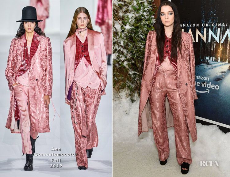 Esme Creed-Miles In Ann Demeulemeester - 'Hanna' New York Premiere