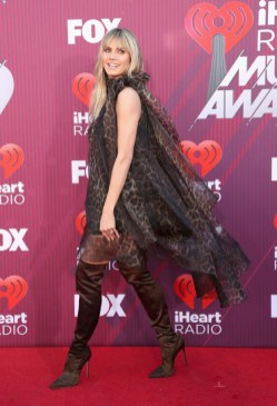 Heidi Klum In Christian Siriano - 2019 iHeartRadio Music Awards